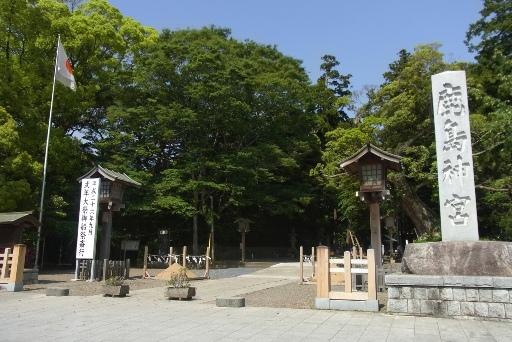 鳥居が崩壊した鹿島神宮