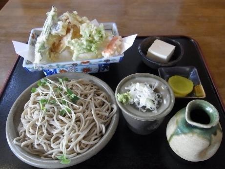 野菜天ぷらそば