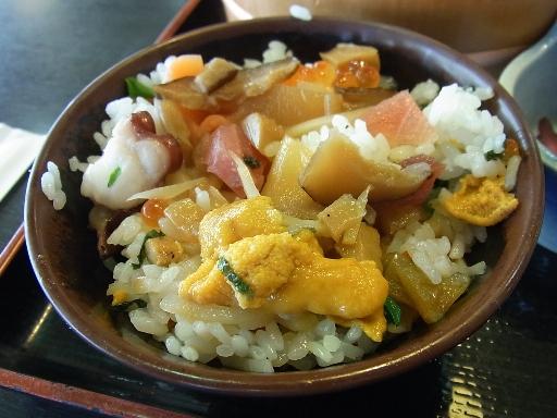 椎茸とタケノコの煮物を混ぜ合わせて
