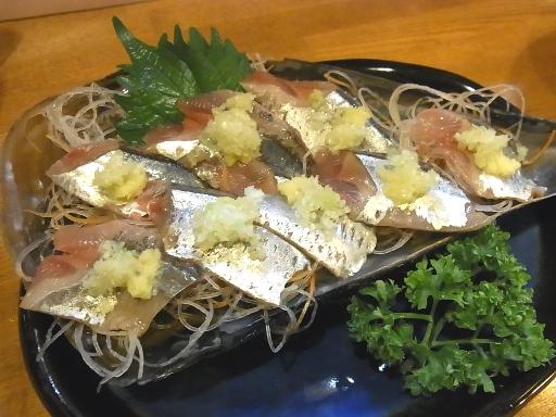 北海道産のさんま刺