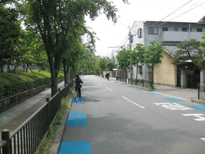 JT通り(自転車通行指導帯)