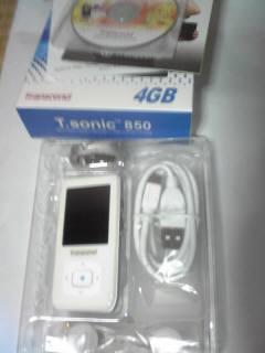 トランセンド「T.sonic 850」ってMP3プレーヤーの画像
