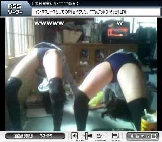 ニコニコ動画で女子小学生のブルマ姿