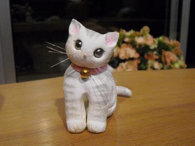 猫粘土サバトラさん