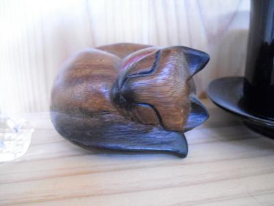 木製にゃんこ