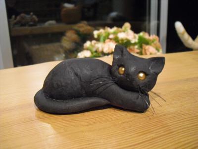 猫粘土黒猫さん