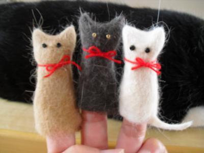 3ニャン指人形