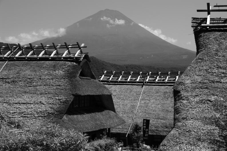 富士山・西湖いやしの里根場より