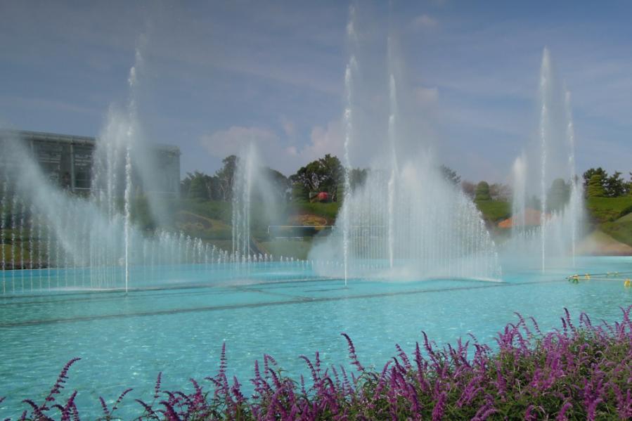 フラワーパーク噴水ショー