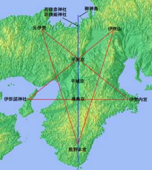 五芒星map