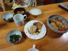 11/24夕飯(肉じゃが)