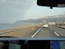 左手に日本海