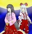 輝夜と妹紅