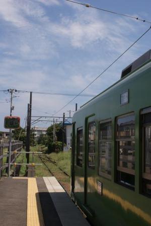 外川駅ホーム