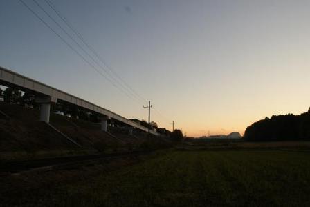 ゆーかり線夕日