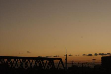 市川橋からスカイツリー
