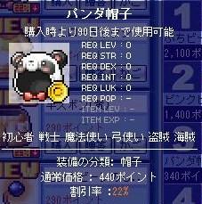1111パンダ帽子1