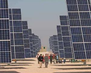 スペインのアクシオ・エネルヒア社の太陽光パネル