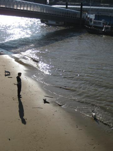 Thames dog beach