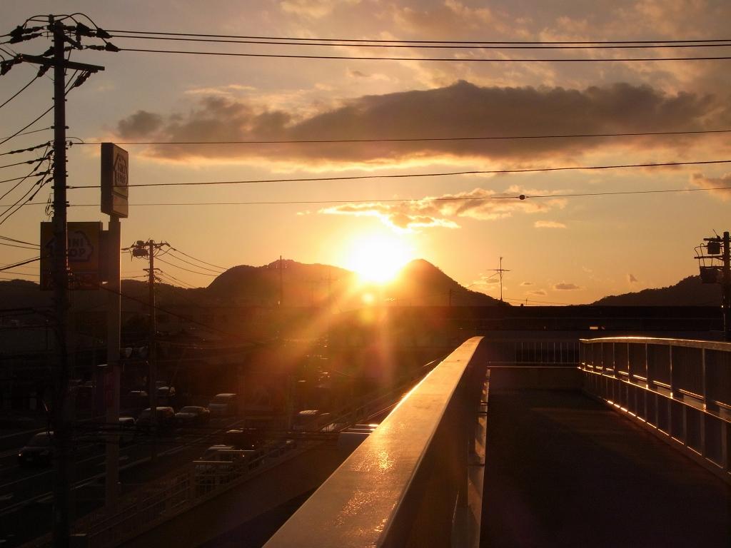 三島の夕日。
