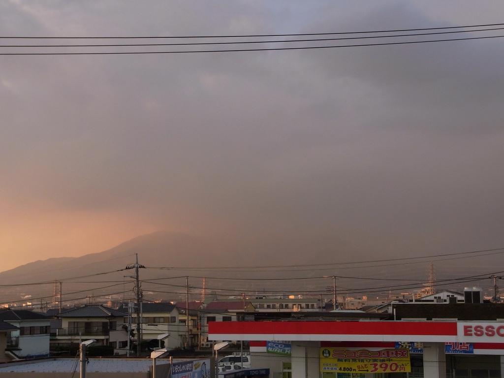 見えない、富士山。