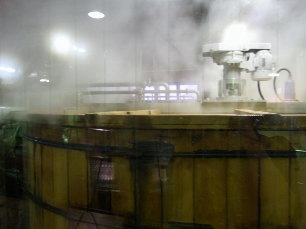 麦水製造中。