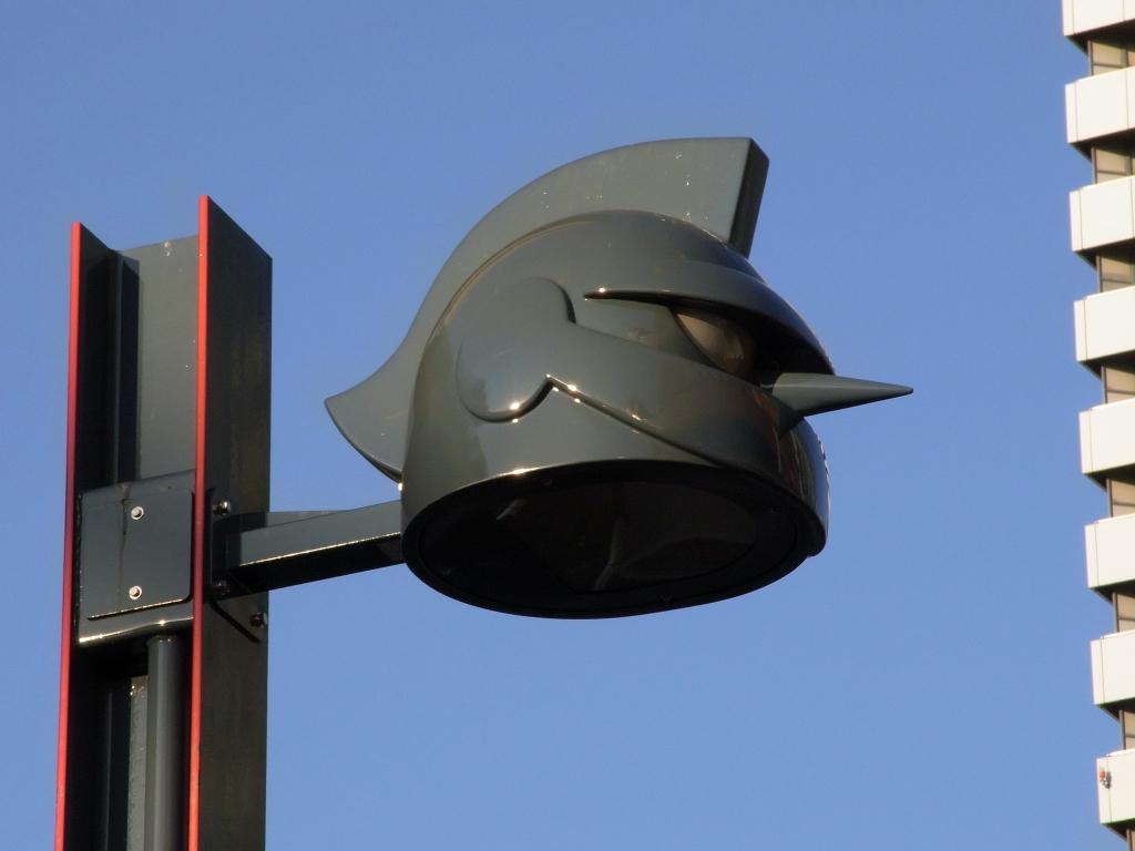 鉄人街灯。