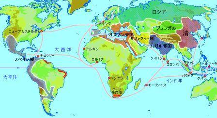 17世紀ネデ領地と交易路