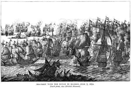 海戦風景画