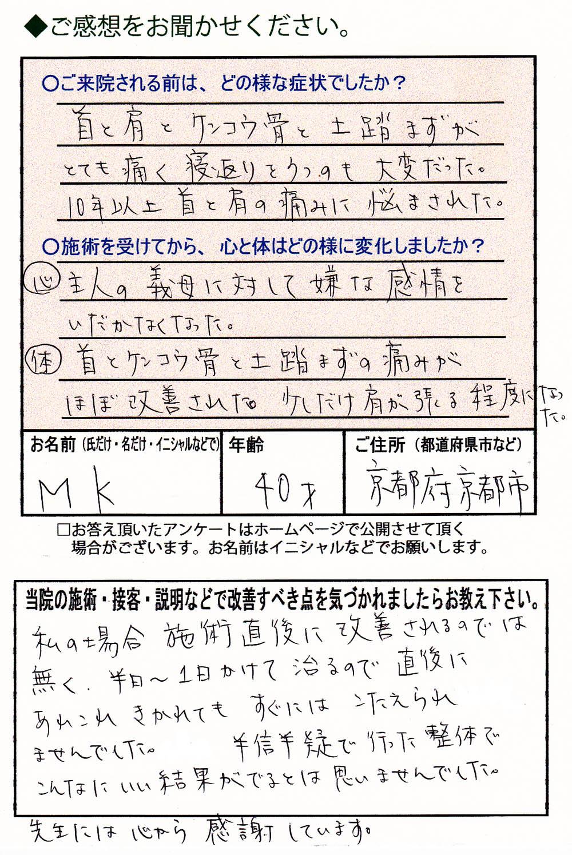 KM(肩甲骨)