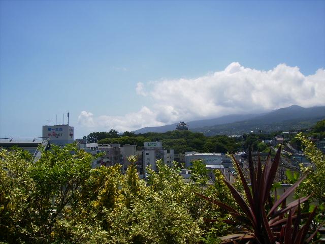 小田原城と夏雲133