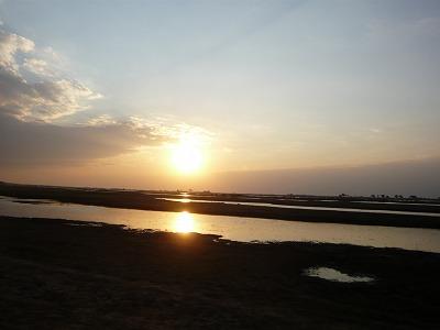 チョベの夕日