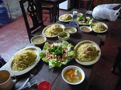アンジェロのパスタで夕食