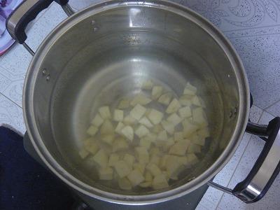 盗んだ芋の調理
