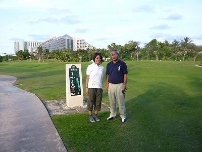 橋本さんとゴルフ場にて