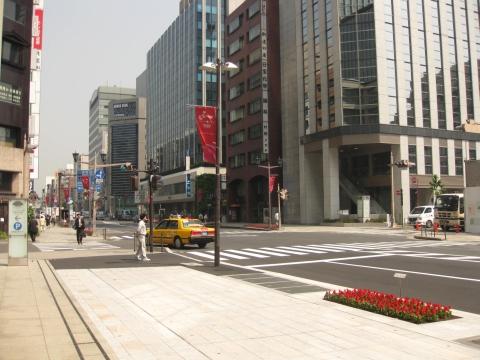 中央通り・旧中山道と旧日光街道の分岐点