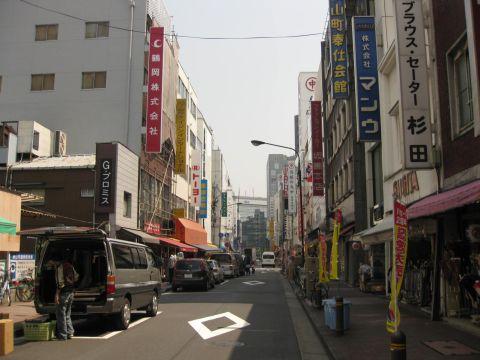 横山町問屋街