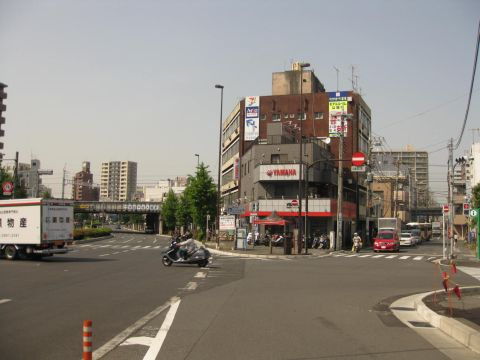 千住・旧日光街道入口