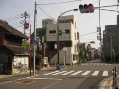 日光街道・水戸佐倉道分岐点