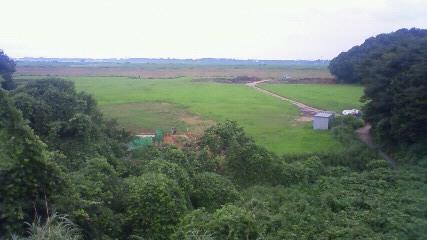 利根川の土手