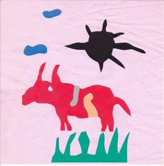 赤い牛と黒い太陽 小