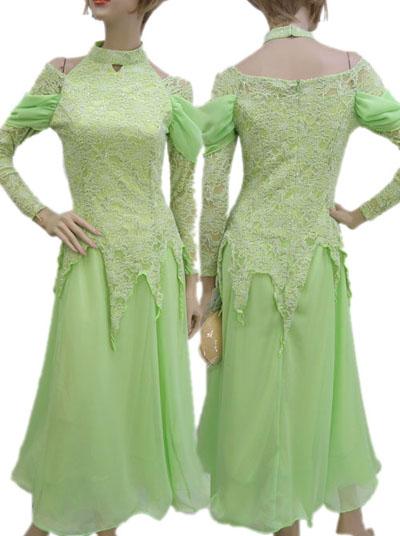 シフォン切り替えデザインドレス