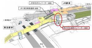 菊名駅カラー エレベーター