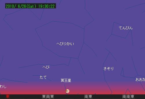 2010 6 26 部分月食星図2