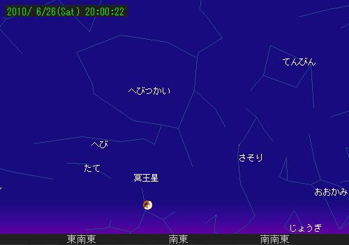 2010 6 26 部分月食星図1