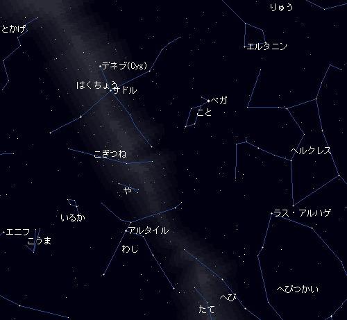 2010 8 16 伝統的な七夕星図