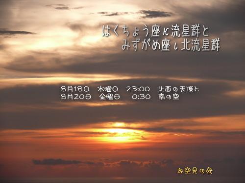 2010 8 18 20 はくちょう座とみずがめ座の流星群