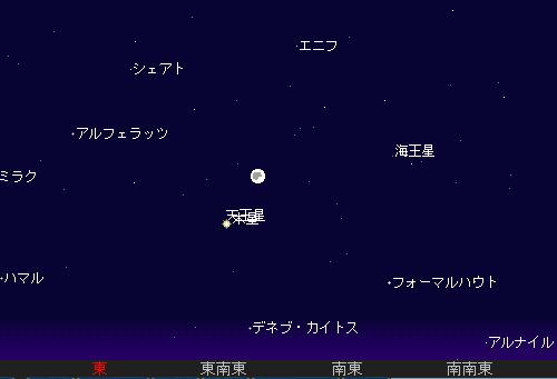 2010 9 22 中秋の名月星図1