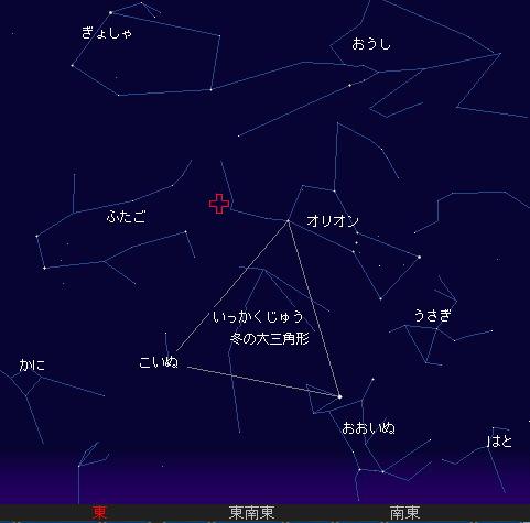 2010 10 22 オリオン座流星群星図