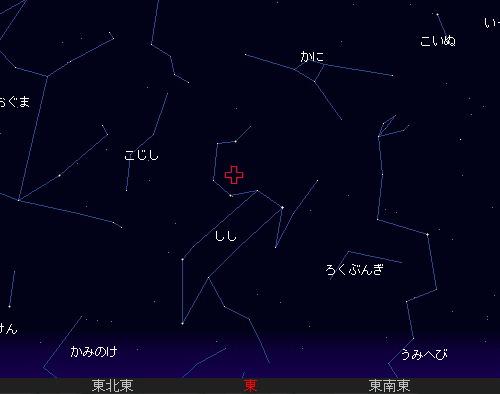 2010 11 18 しし座流星群星図